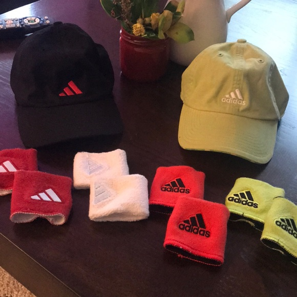 adidas Accessories - Bundle- hats/wrist bands